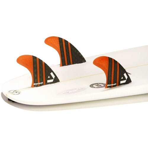 Dorsal Carbon Hexcore Thruster Surfboard Fins (3) Honeycomb FCS Base Orange - DORSAL?« Surf Shop - Dorsalfins.com?ÇÄ