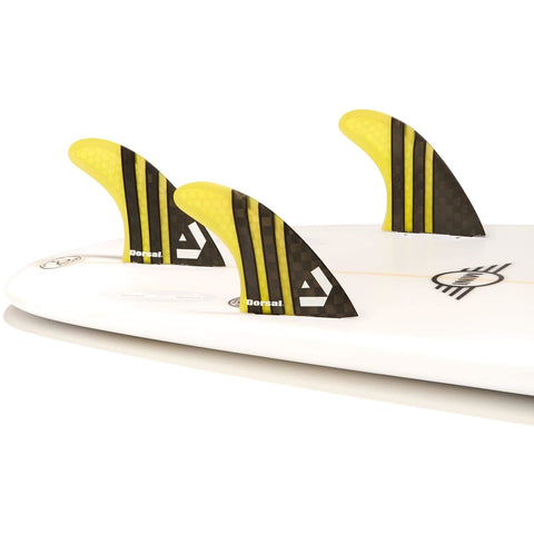 DORSAL Surfboard Fins FlexCore Surfboard Quad Set (4) FUT Base - Natural
