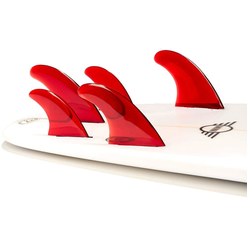 Dorsal Performance Flexrez Surfboard Thruster/Quad Surf Fins (5) FCS Compatible Red - DORSAL® Surf Shop - Dorsalfins.com‎