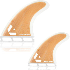 DORSAL Surfboard Fins Bamboo Quad Set (4) Hexcore Honeycomb FUT Base