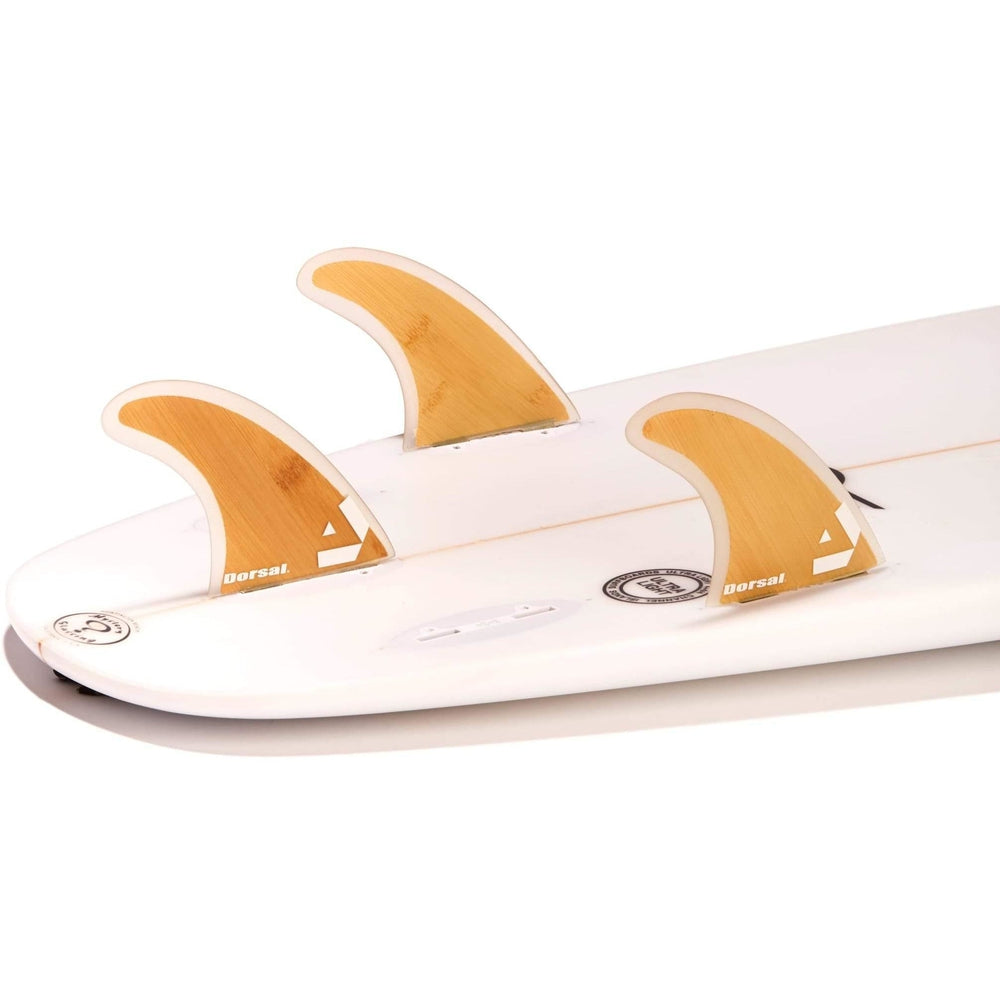 Dorsal Surfboard Fins Bamboo Hexcore Thruster Set (3) Honeycomb FCS Base