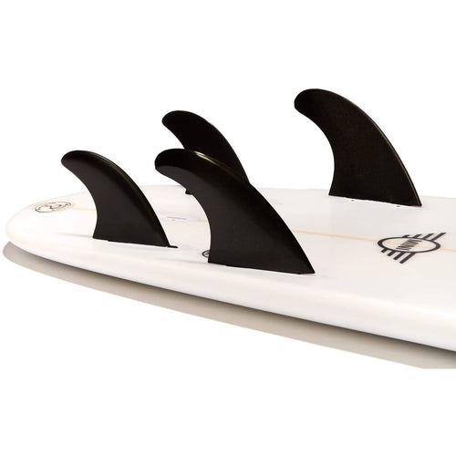 Dorsal Surfboard Fins FlexCore Surfboard Quad Set (4) FCS Base - Black