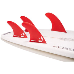 DORSAL Surfboard Fins Hexcore Quad Set (4) Honeycomb FUT Base Red