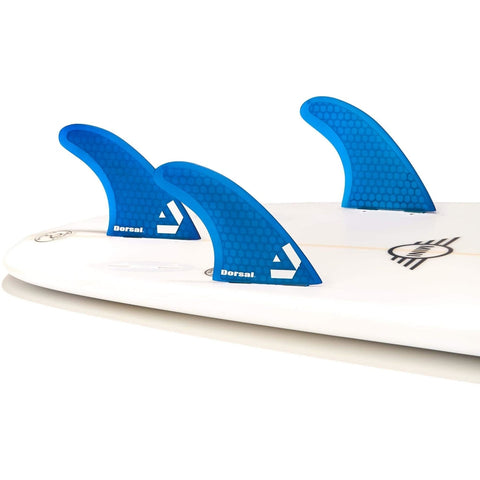 Dorsal Performance Flexrez Core Surfboard Twin Surf Fins (2) FCS Compatible Red