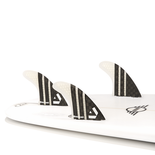 Dorsal Carbon Hexcore Thruster Surfboard Fins (3) Honeycomb FCS Base Clear - DORSAL® Surf Shop - Dorsalfins.com‎