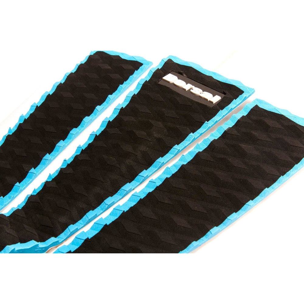 DORSAL Origin Pro Series 3 Peice Surfboard Traction Pad Black Slate Blue Outline - DORSAL?« Surf Shop - Dorsalfins.com?ÇÄ