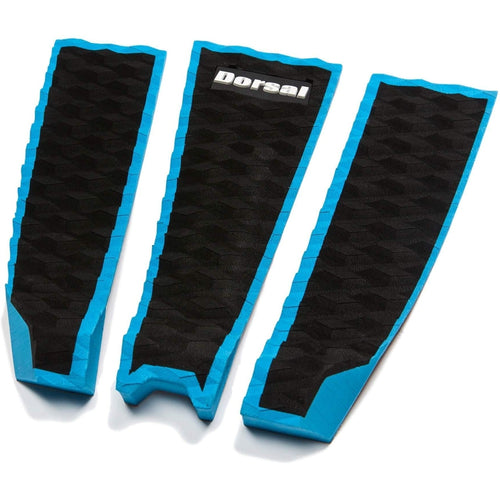 DORSAL Origin Pro Series 3 Peice Surfboard Traction Pad Black Slate Blue Outline - DORSAL® Surf Shop - Dorsalfins.com‎