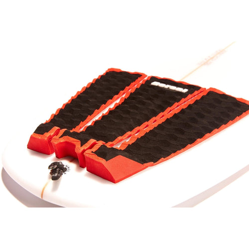 DORSAL Origin Pro Series 3 Peice Surfboard Traction Pad Black Slate Red Outline - DORSAL® Surf Shop - Dorsalfins.com‎