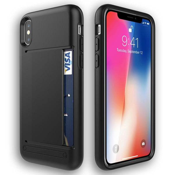 Apple Iphone 10 X Case Wallet Card Slot Drop Protection