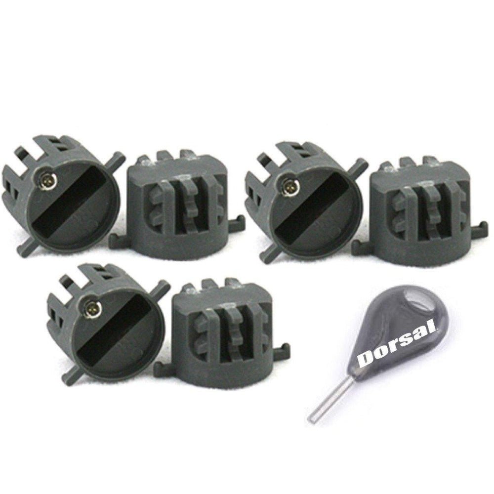 DORSAL Thruster Fin Plugs with Key and Screws (FCS Replacement)