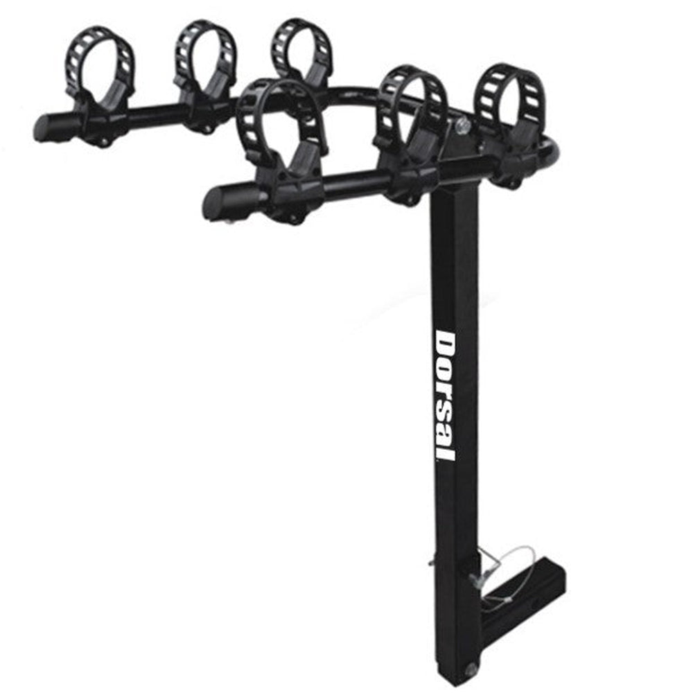 "DORSAL Hitch Mount Bike Carrier Rack (Fits 3 Bikes For 2"" Receivers)"