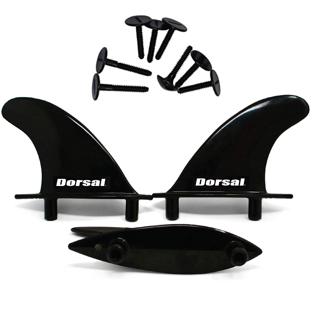 DORSAL Soft Top Surfboard Fin Set of 3 Thrusters