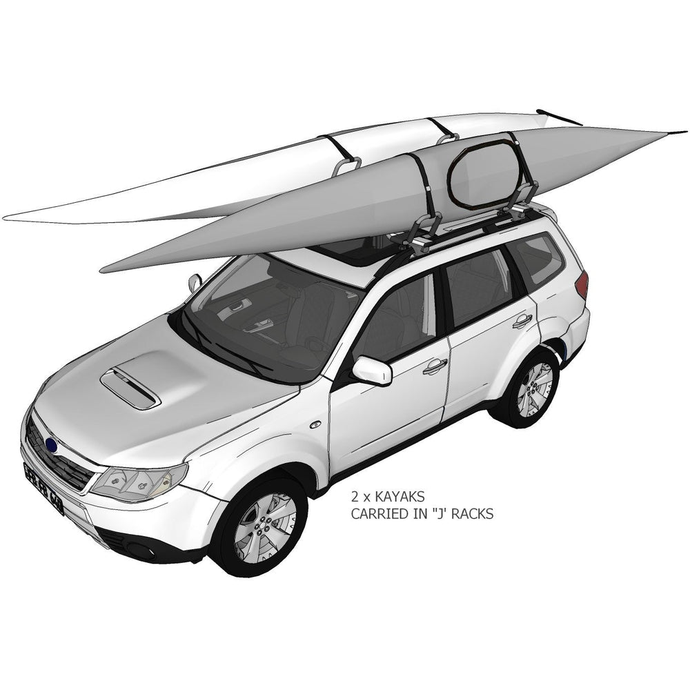 DORSAL Kayak Rack Set / 2Pcs J-Bar Rack for Canoe SUP Board Boat On Roof Top Mount Crossbar