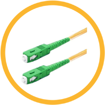SC/APC-SC/APC 9/125 Singlemode Simplex (Genuine Plus Corning Glass) Fiber Jumper Zipcord Cables 2.0 Jacket / BIF