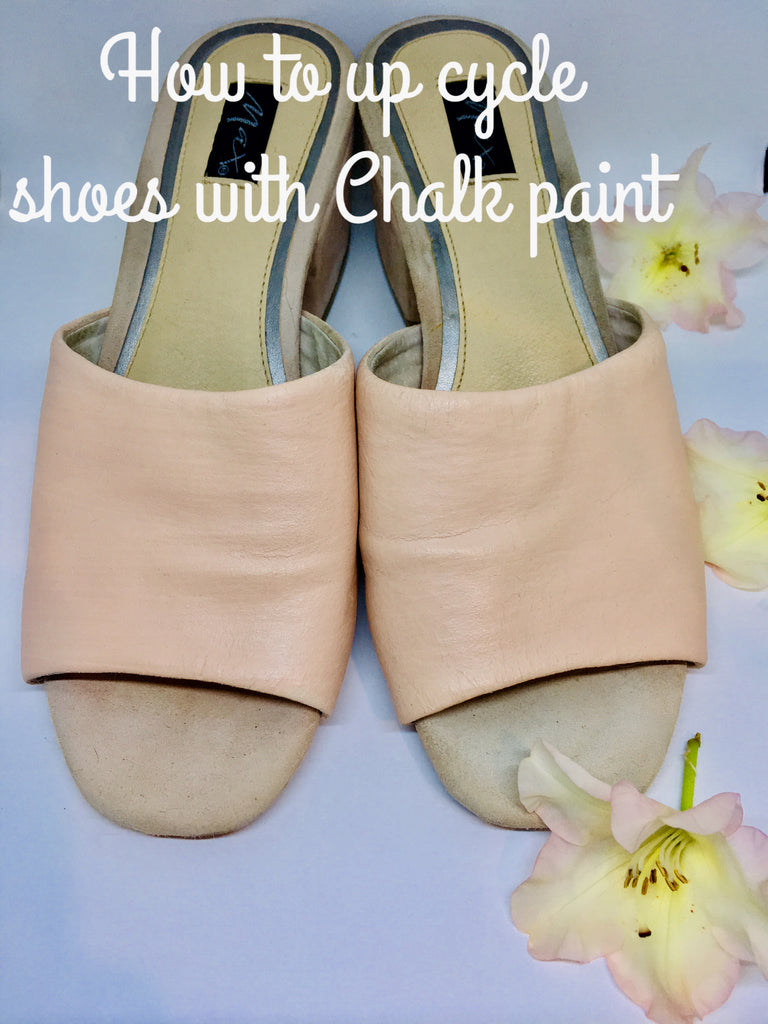 How to up cycle your shoes with our Chalk paint tutorial.