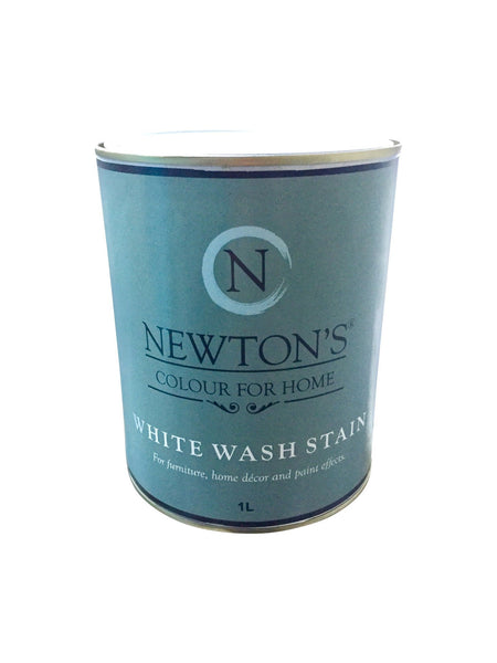 Whitewash Timber Stain 90 ml  Test Pot. - Newton's Chalk Finish Paint - 2