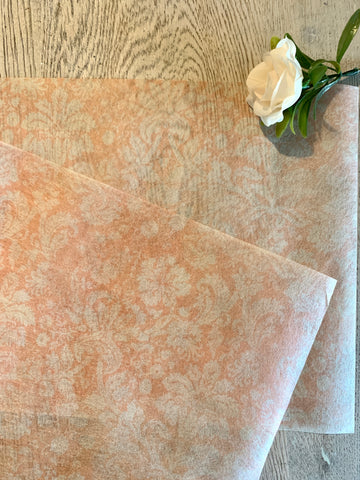 Re design Peach Damask tissue