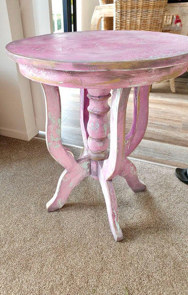 Pink SeaWash and Chalk paint table