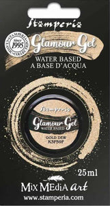 Stamperia Glamour Gel-GOLD DEW