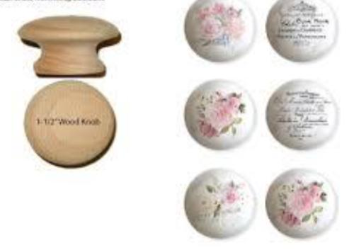 Re Design Knob Transfers-May Flowers