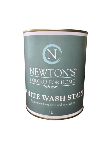 Whitewash Timber Stain 90 ml  Test Pot. - Newton's Chalk Finish Paint - 1
