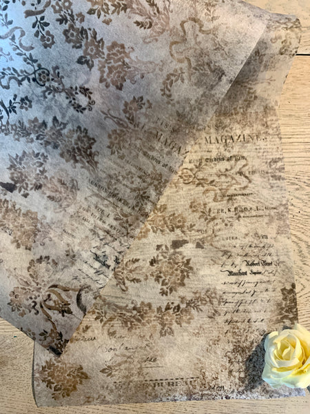 Decoupage Tissue - Washed Damask