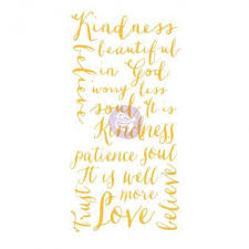 Adhesive Transfer - Kindness, Patience and Love scripts