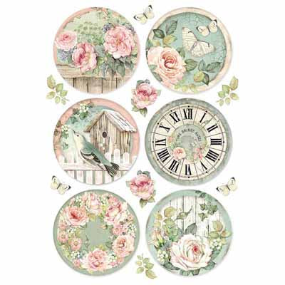 Rice paper-Round Clocks A4
