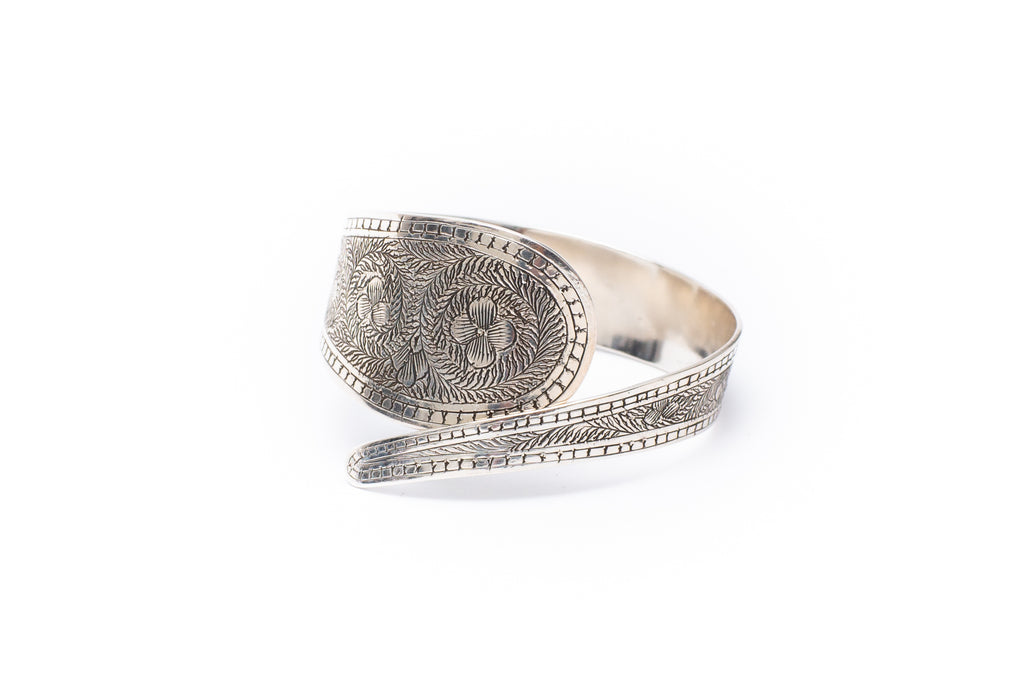 Etched Flower Cuff