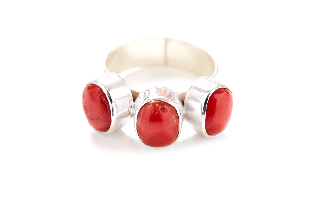 Trilogy Ring - Red Coral