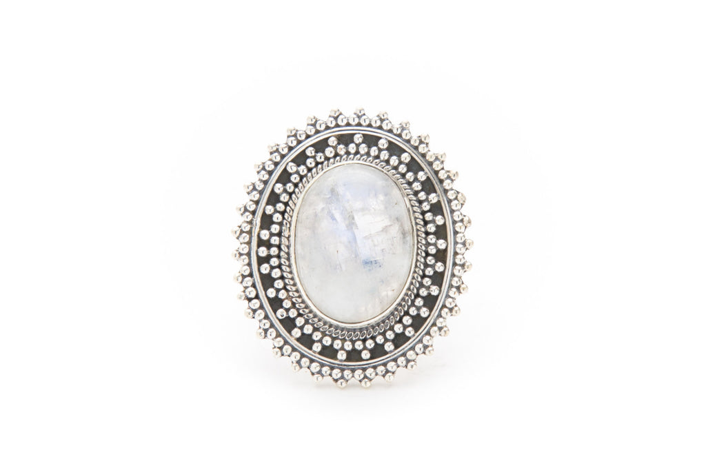 Floral Ring - Moonstone