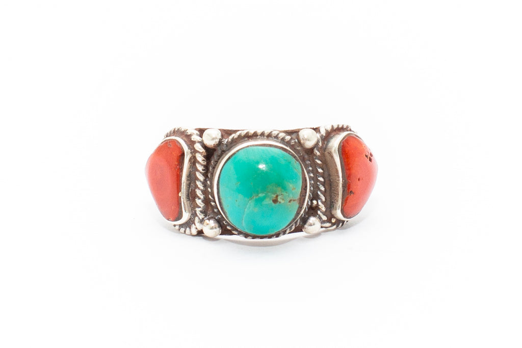 The Three Sisters Ring - Turquoise | Coral