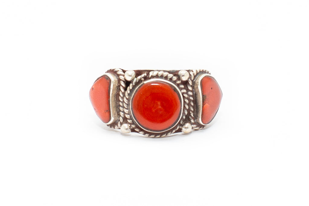 The Three Sisters Ring - Coral
