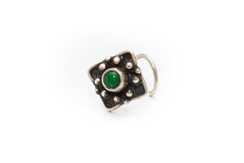 Fig Tree Nose Stud - Malachite