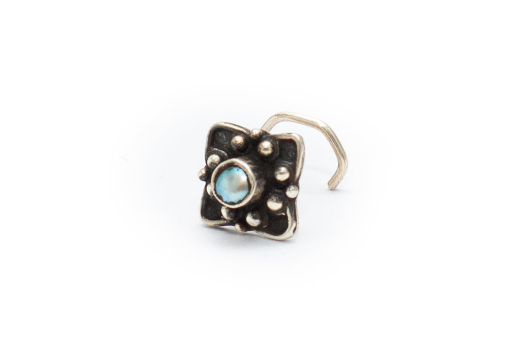 Fig Tree Nose Stud - Pearl
