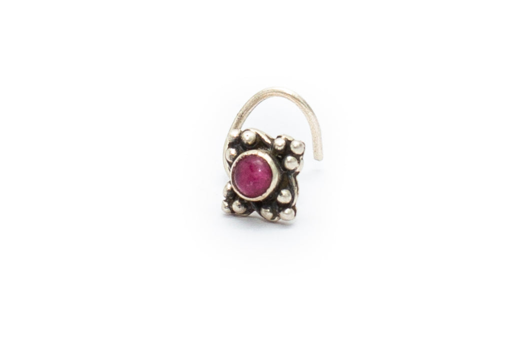 Fig Tree Nose Stud - Ruby
