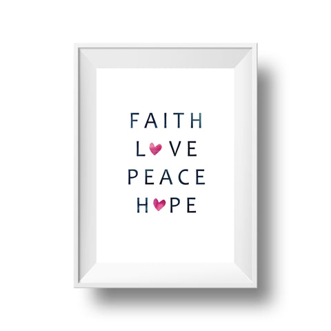 Big Heart Collection: Faith, Love, Peace, Hope