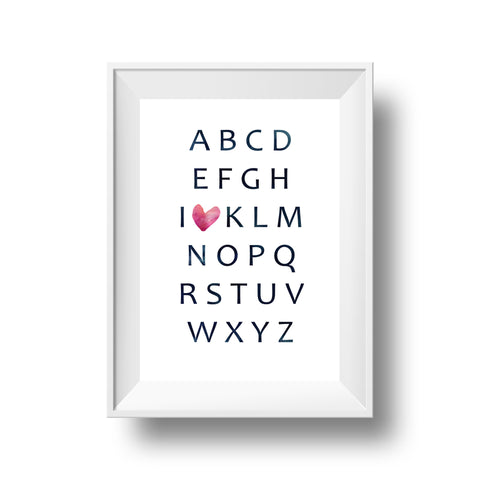 Big Heart Collection: Alphabet Love (Custom Print)