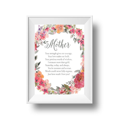 "Botanical ""Mother"" Print"