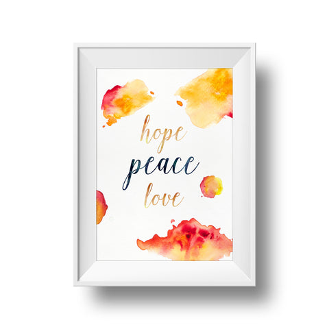 Sunburst Collection: Hope, Peace, Love