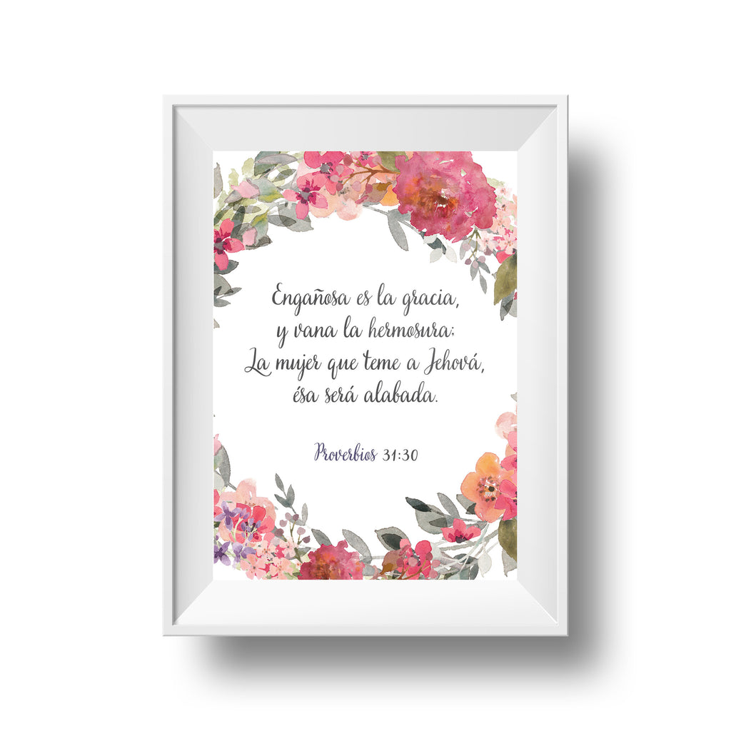 Botanical Proverbs 31:30 (Spanish)