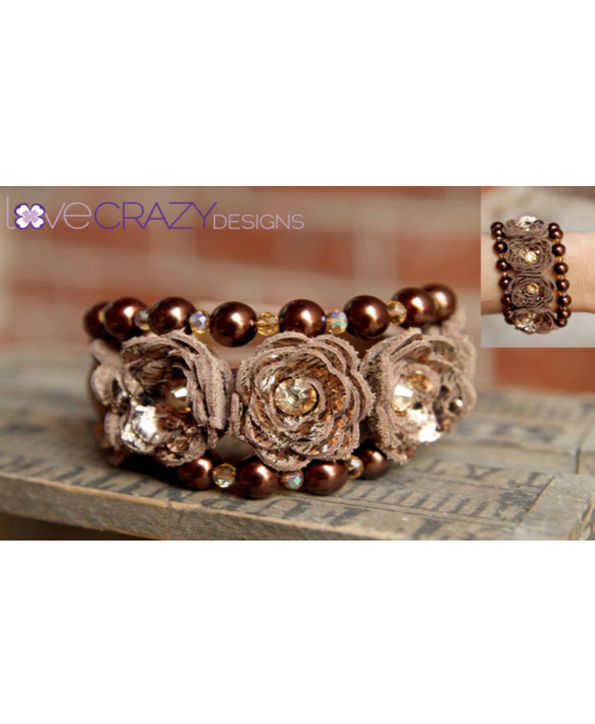 Gently Loved Triple Wrap Beaded Flower