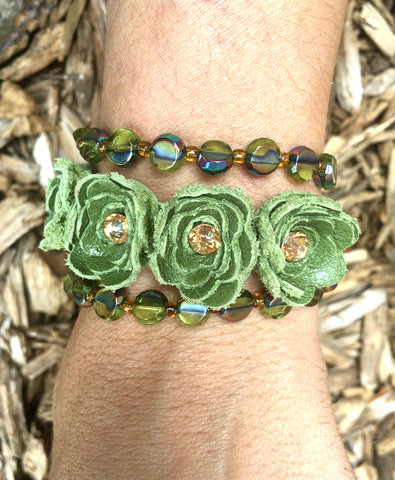 Gently Loved Triple Wrap Beaded Flower - LoveCrazy Designs