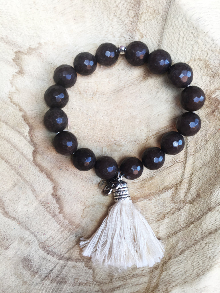 12mm beaded tassel bracelet - LoveCrazy Designs