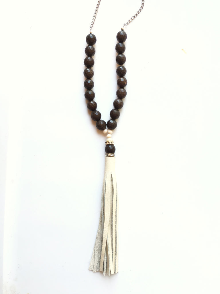 Beaded Tassel Necklace - LoveCrazy Designs