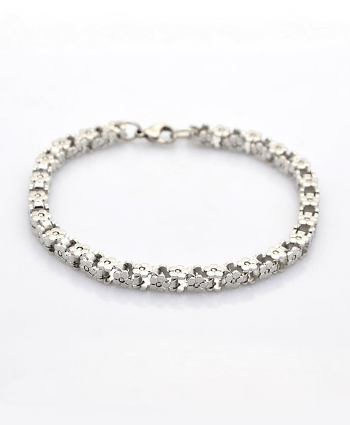 Julie Stainless Steel Flower Bracelet - LoveCrazy Designs