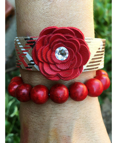 Cathy Single flower cuff - LoveCrazy Designs