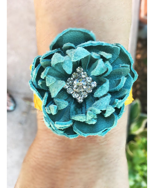 Baby Kiss Flower Cuff - LoveCrazy Designs