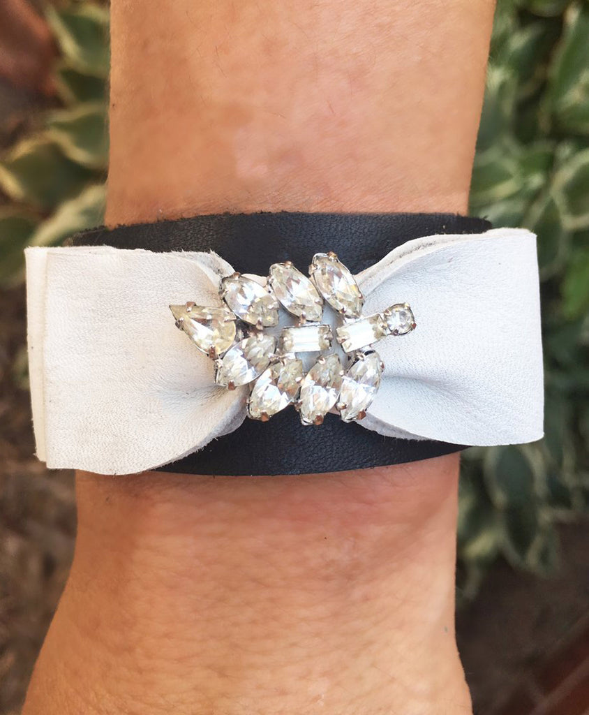 Vintage Earring Bow Cuff - LoveCrazy Designs