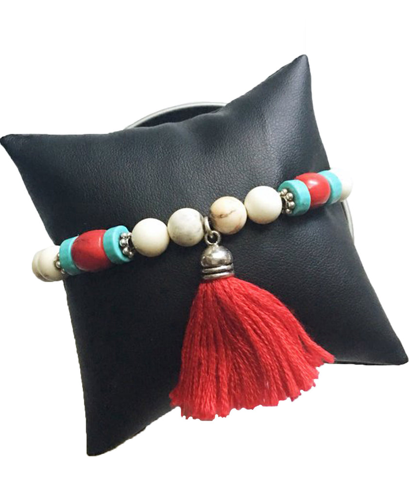 Beaded Tassel Bracelet - LoveCrazy Designs